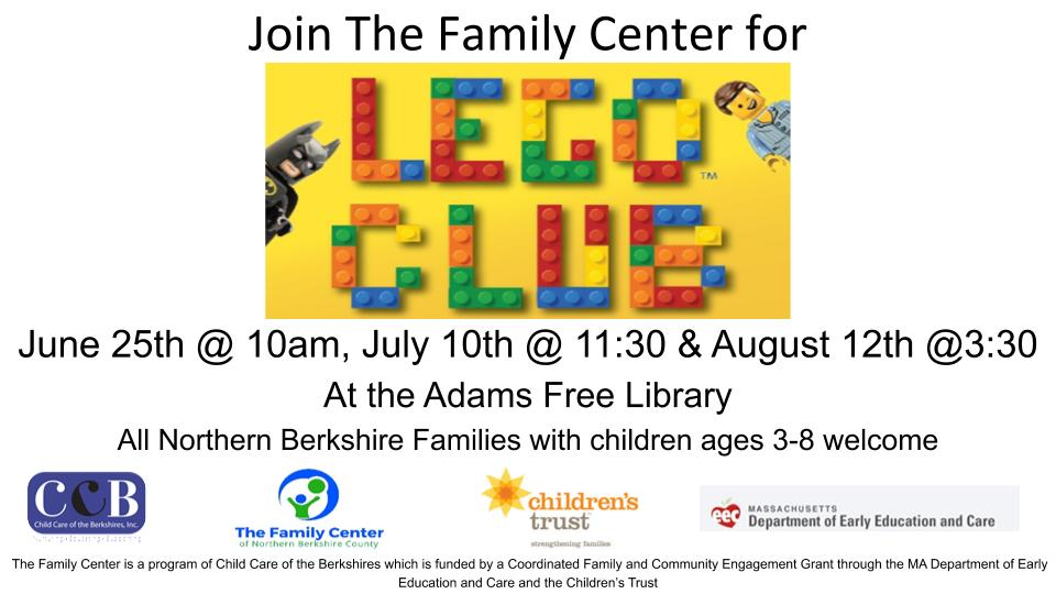 Summer Lego Club @ Adams Library