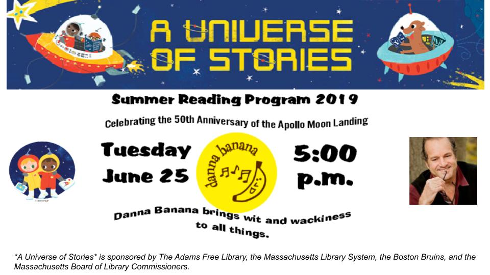 Children's Summer Program - Danna Banana @ Adams Library
