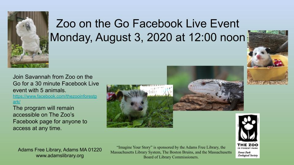 Zoo on the Go Facebook Live Event