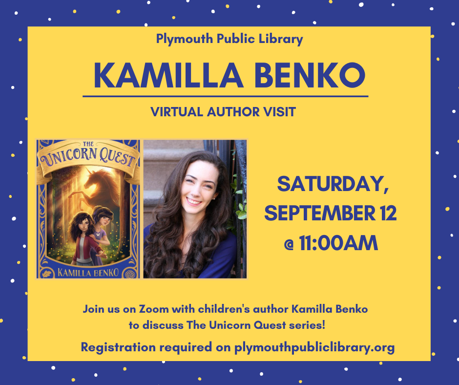 Plymouth Public Library presents children's author Kamilla Benko