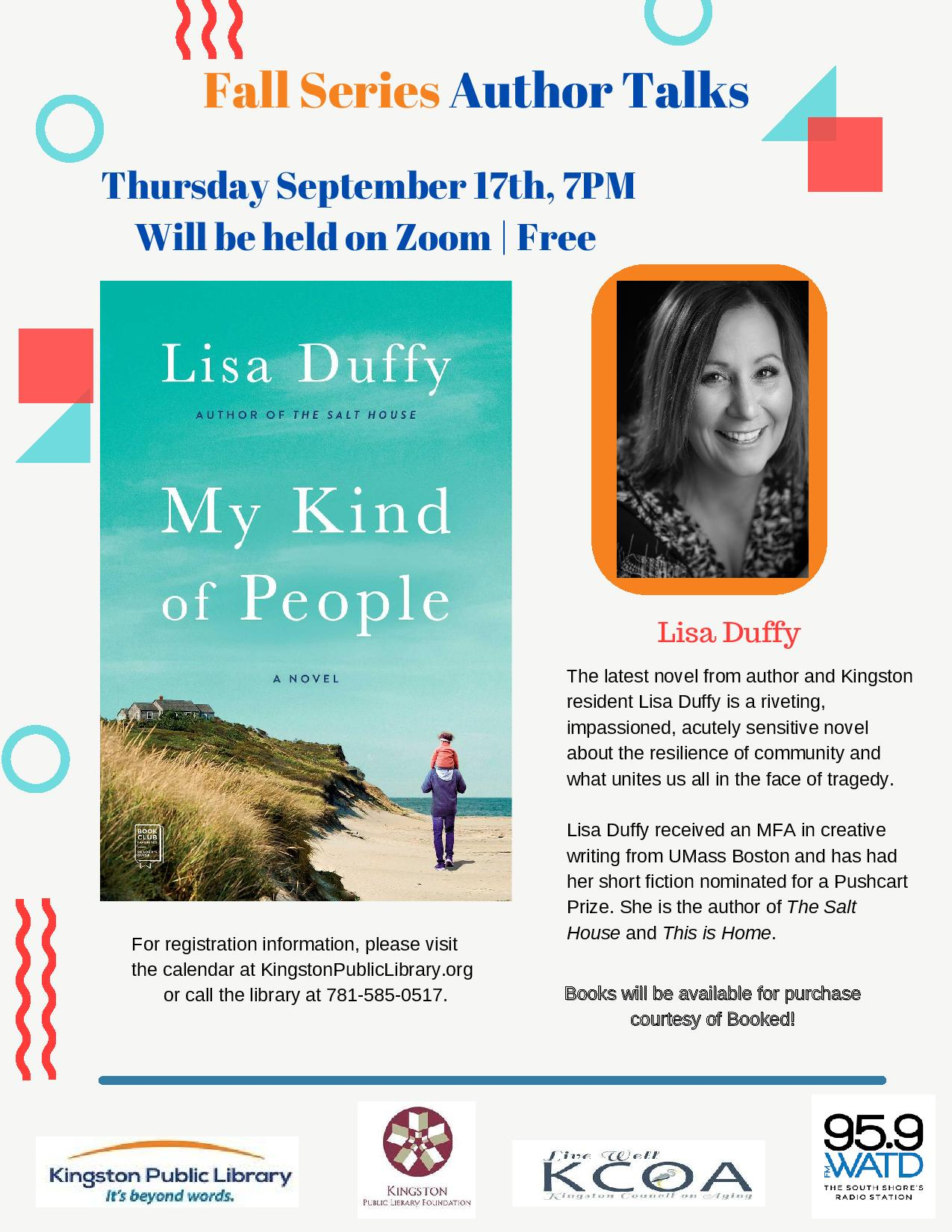 Kingston Public Library is Hosting Author Lisa Duffy