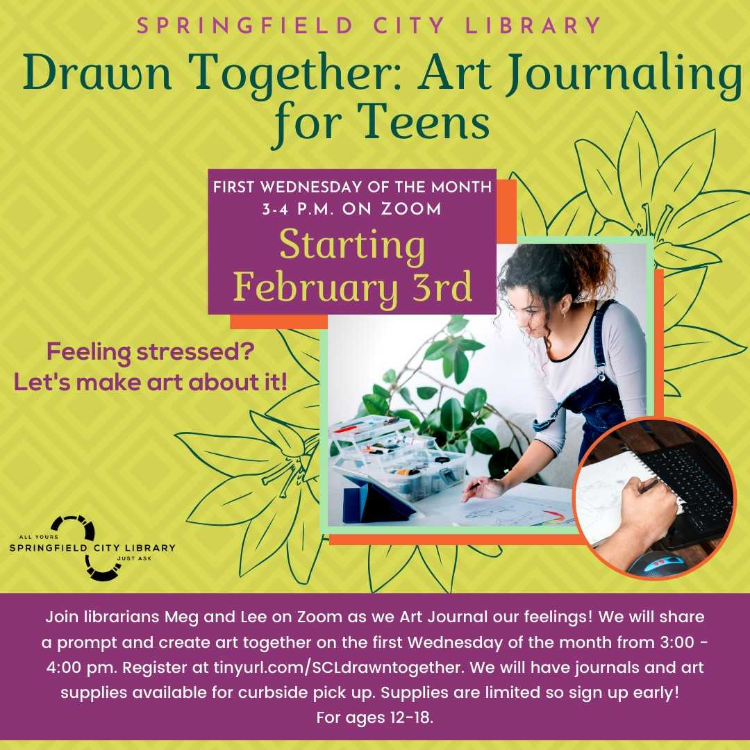 Springfield City Library presents Drawn Together: Art Journaling for Teens