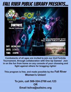 Fall River Public Library presents- Fortnite Tournament