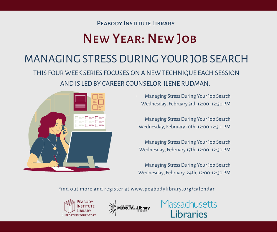 Peabody Institute Library presents Managing Stress for Job Seekers