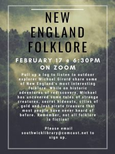 Southwick Public Library presents- New England Folklore with Michael Girard