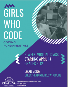 Reading Public Library presents- Girls Who Code: Coding Fundamentals