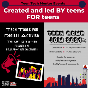 BPL presents- Tech Tools for Digital Activism: Social Justice for Teens, by Teens