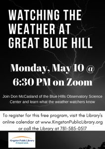 Kingston Public Library presents- Watching the Weather at Great Blue Hill