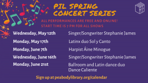 Peabody Institute Library presents- Spring Concert Series: Singer/Songwriter Stephanie James