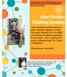 Norwell Public Library presents- Albert Einstein: Relatively Speaking
