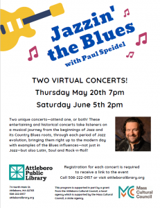 Attleboro Public Library presents- Jazzin' the Blues Virtual Concert with Paul Speidel