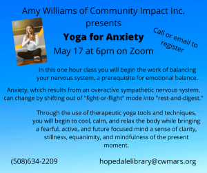 Bancroft Memorial Library presents- Yoga for Anxiety Virtual Event