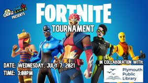 Plymouth Public Library presents- Virtual Fortnite Tournament with One Up Games