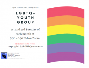 Lawrence Library presents- Online LGBTQ+ Youth Group