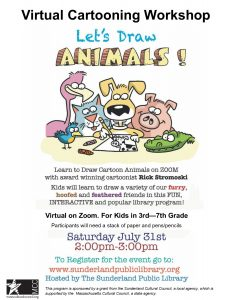 Sunderland Public Library presents- Virtual Cartooning Workshop