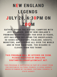 Southwick Public Library presents- New England Legends