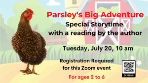 Needham Free Public Library presents- Parsley's Big Adventure Author Virtual Storytime