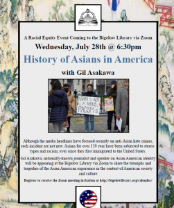 Bigelow Free Public Library presents- History of Asians in America