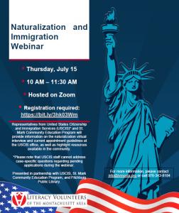 Fitchburg Public Library presents- Naturalization & Immigration Webinar