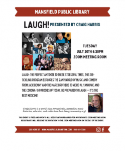 Mansfield Public Library presents- Tails & Tales Program with Craig Harris presents LAUGH!