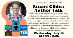 Lynnfield Public Library presents- Virtual Author Talk with Stuart Gibbs
