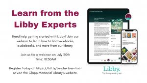 Clapp Memorial Library presents- Virtual Libby Training