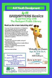 Rockport Public Library presents- Babysitter Basics (Virtual Course)