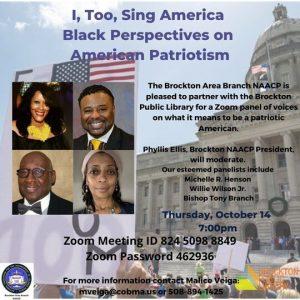 Brockton Public Library presents- I, Too, Sing America: Black Perspectives on American Patriotism