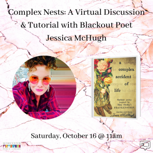 Worcester Public Library presents- Complex Nests: A Virtual Discussion & Tutorial with Blackout Poet Jessica McHugh