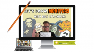 Wellesley Free Library presents- (Virtual) Monster Cartooning with Rick Stromoski
