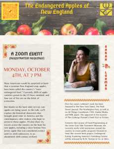 Morse Institute Library presents- (Virtual) The Endangered Apples of New England