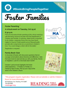 Reading Public Library presents- Foster Parenting Virtual Workshop